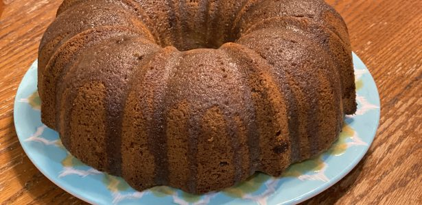Cream Cheese Apple Pecan Pound Cake